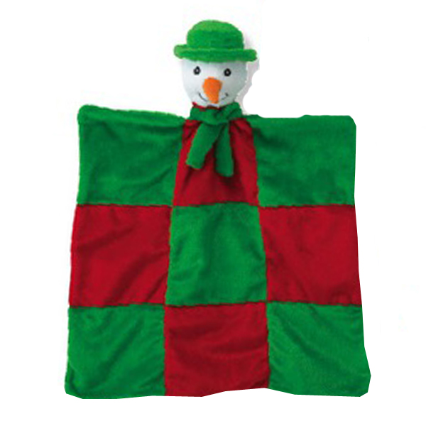 Grriggles Merry Quilt Dog Toy - Snowman