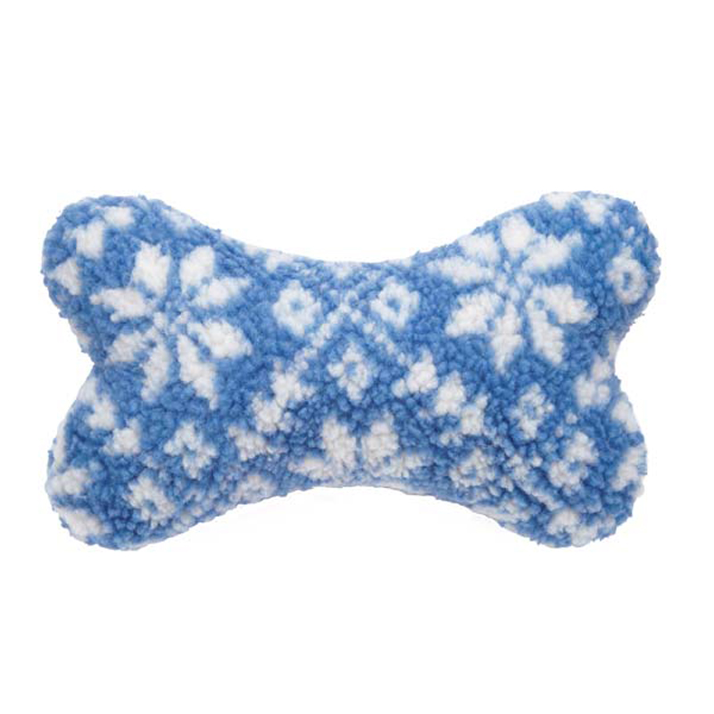 Grriggles Nordic Bone Dog Toy - Blue