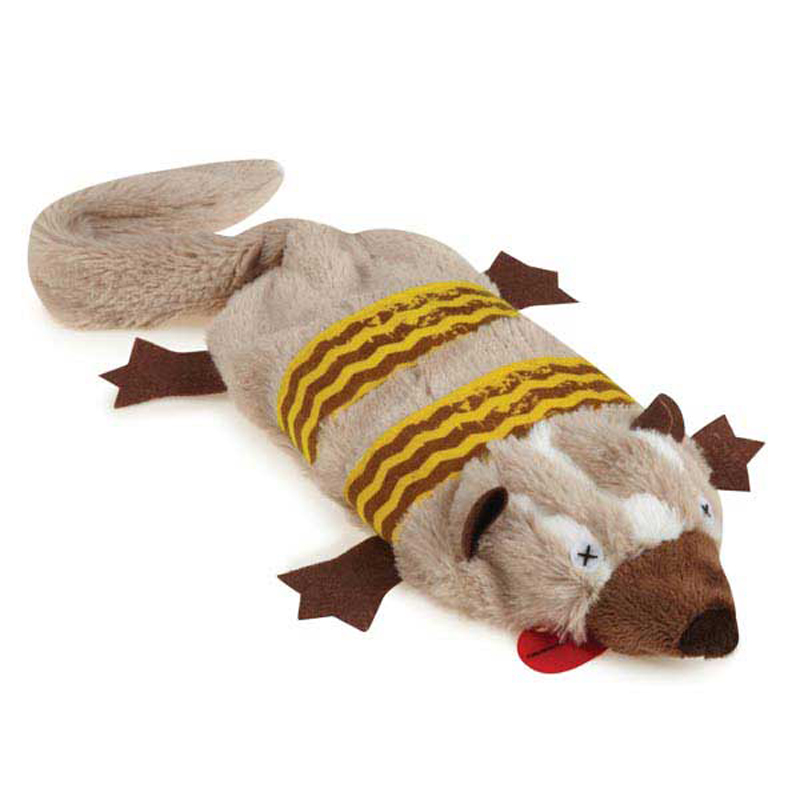 Grriggles Road Crew Unstuffies Dog Toy - Badger