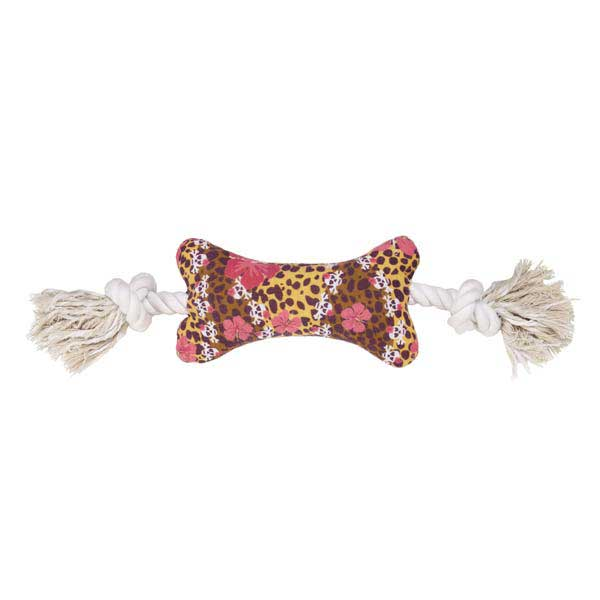 Grriggles Skull-Fari Bone Tugger Dog Toy
