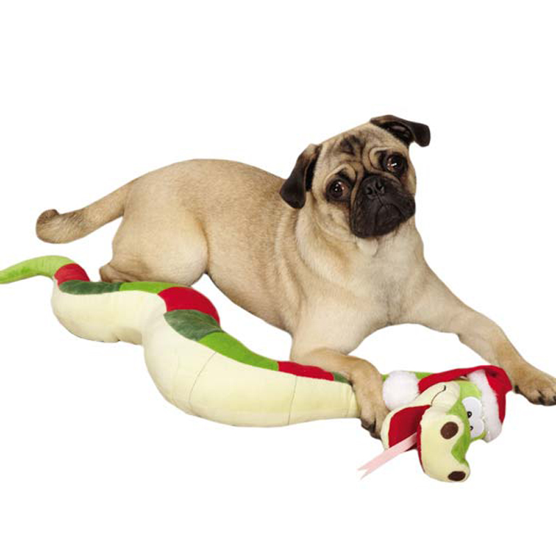 Grriggles Sugar Plum Snake Dog Toy at BaxterBoo