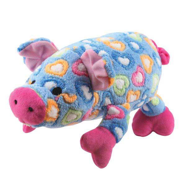 Grriggles Whole Hearted Hog Dog Toy - Blue