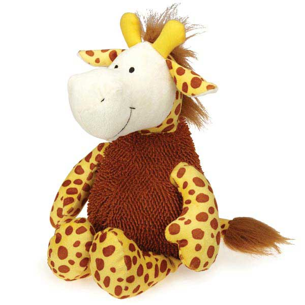 Grriggles Wild Hearts Dog Toy - Giraffe