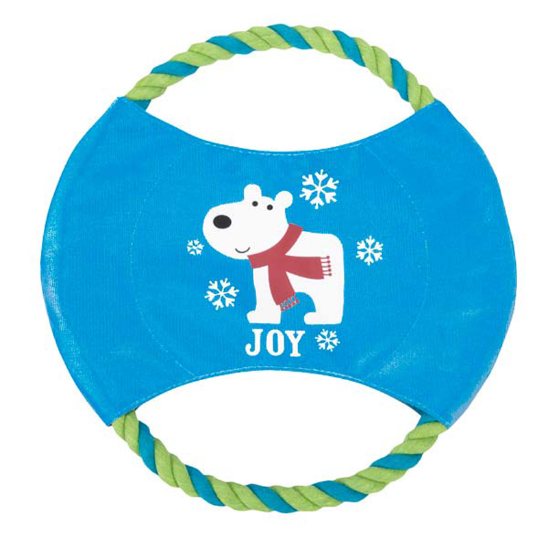 Grriggles Winter Lights Rope Dog Flyer Toy