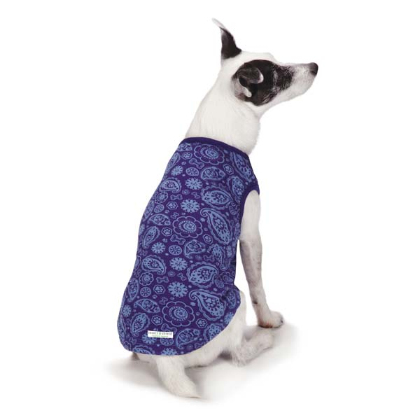 Guardian Gear Insect Shield Paisley Dog Tank - Blue