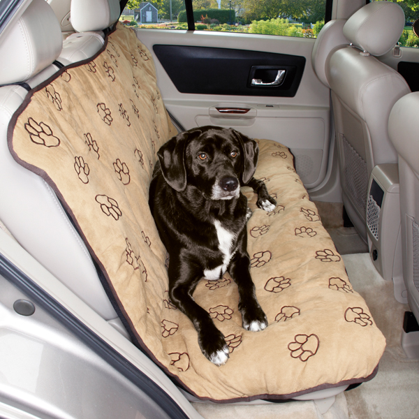 cruising companion pawprint seat cover camel baxterboo. Black Bedroom Furniture Sets. Home Design Ideas
