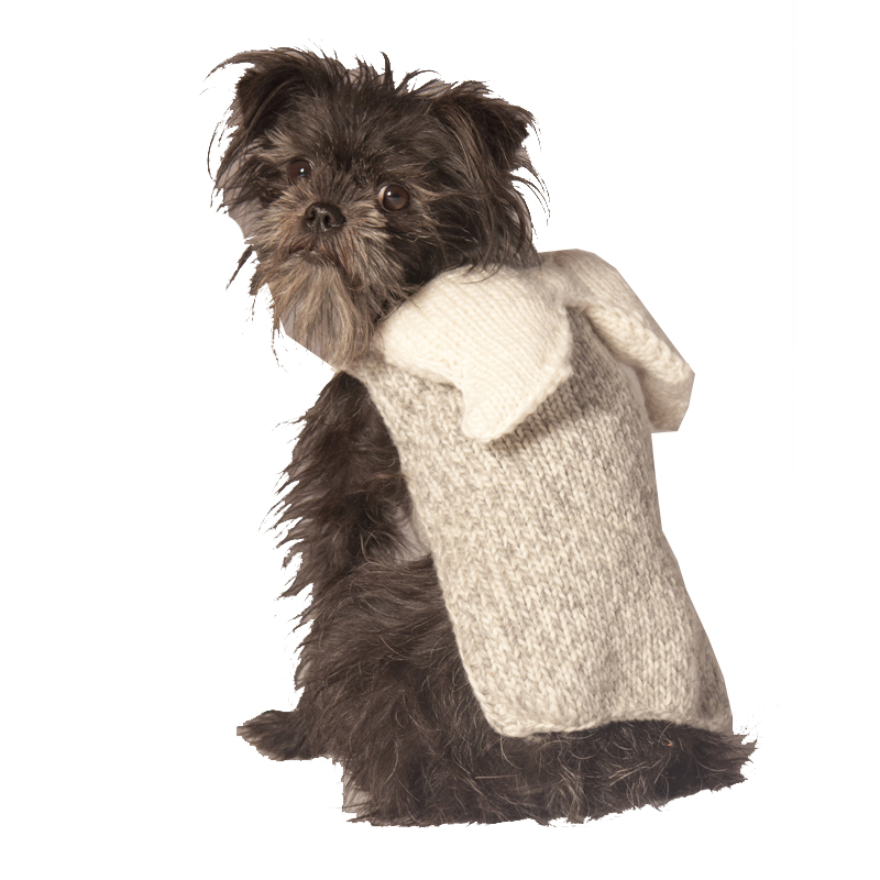 Handmade Angel Wings Wool Dog Hoodie