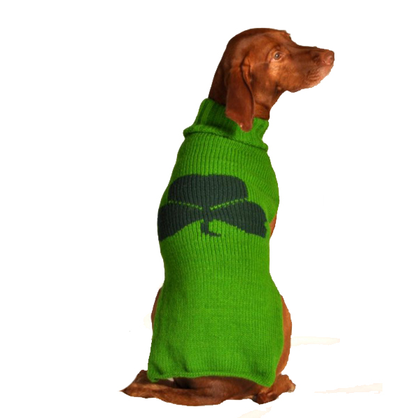 Handmade Shamrock Dog Sweater