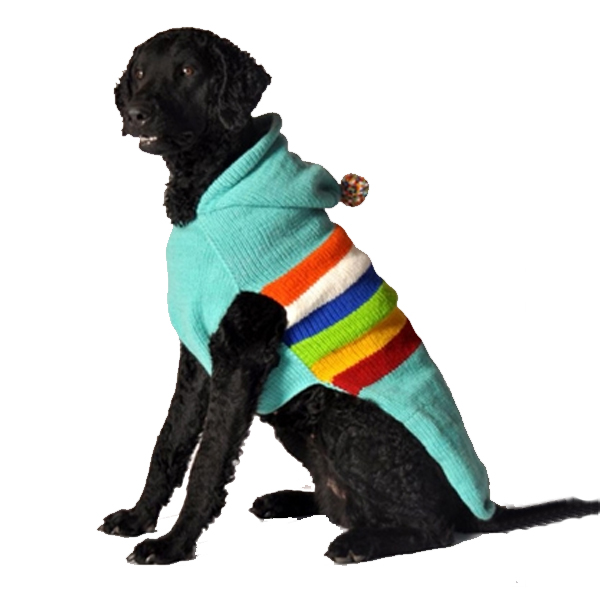 Handmade Ski Bum Wool Dog Sweater