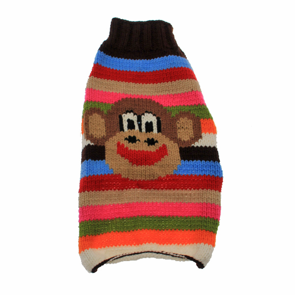 Handmade Wool Funky Monkey Dog Sweater
