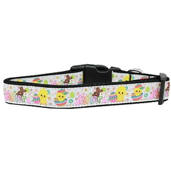 Happy Easter Nylon Dog Collar