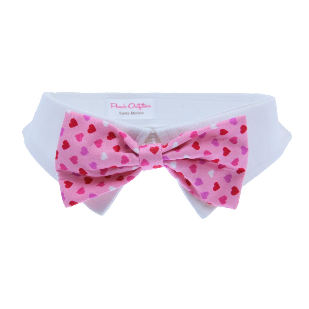 Hart Dog Shirt Collar And Bow Tie Pink Baxterboo