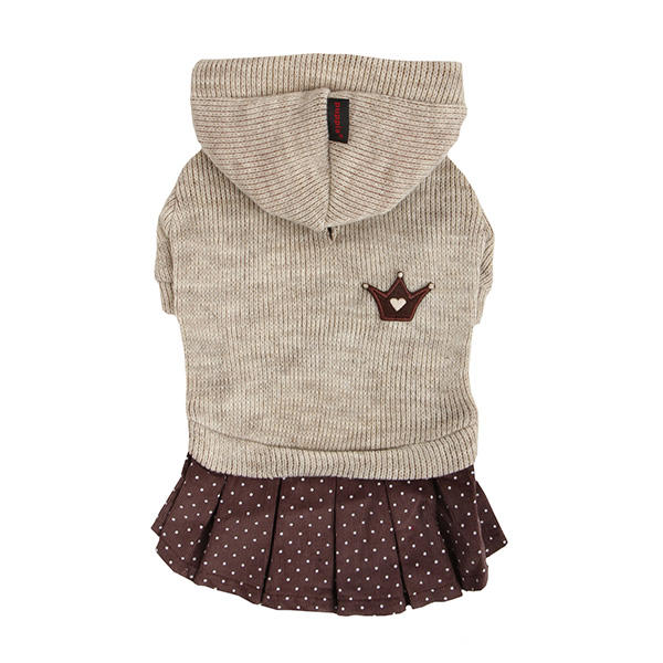 Hatch Hooded Dog Dress by Puppia - Beige