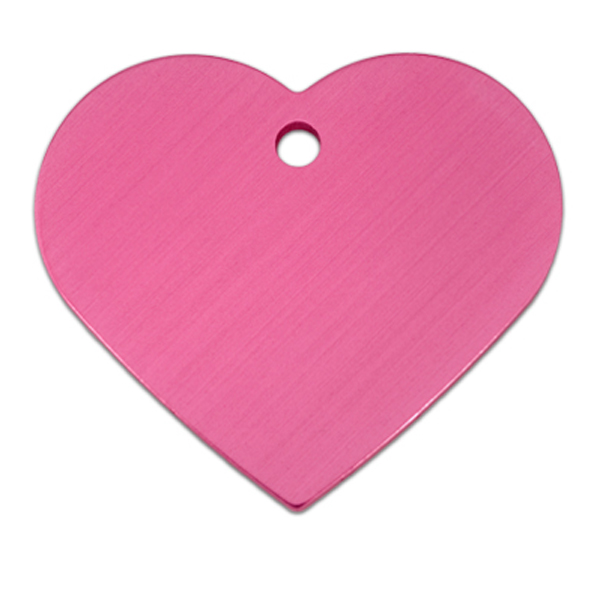 Heart Large Engravable Pet I.D. Tag - Pink