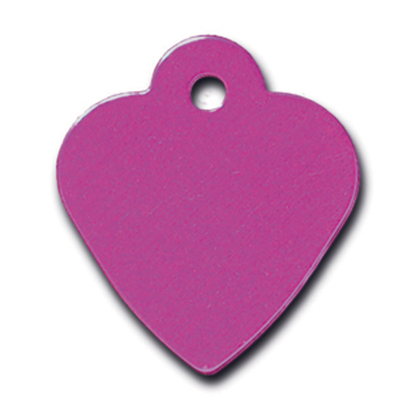 Heart Small Engravable Pet I.D. Tag - Purple