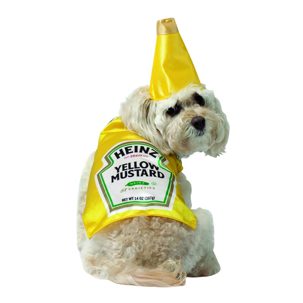 Heinz Mustard Bottle Dog Costume by Rasta Imposta