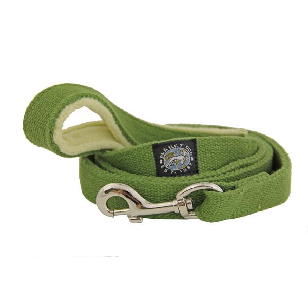 Hemp Dog Leash w/ Fleece Handle by Planet Dog - Green Apple