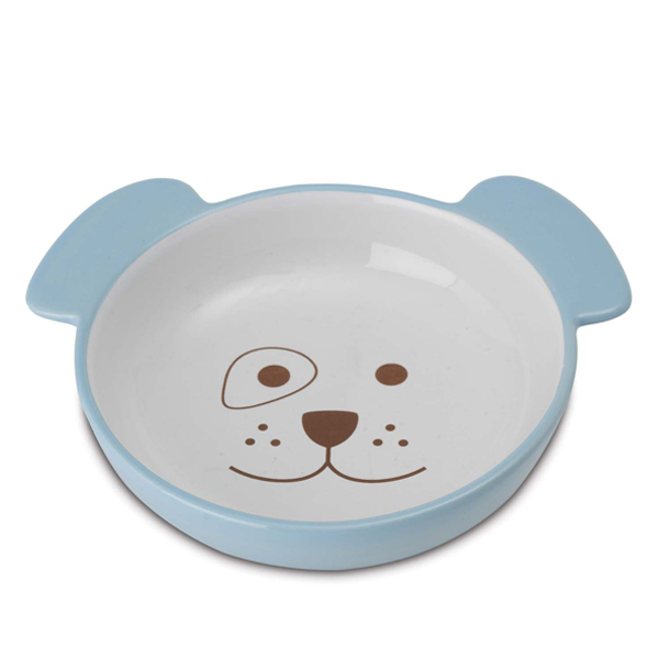 Here Doggy Blue Dog Bowl