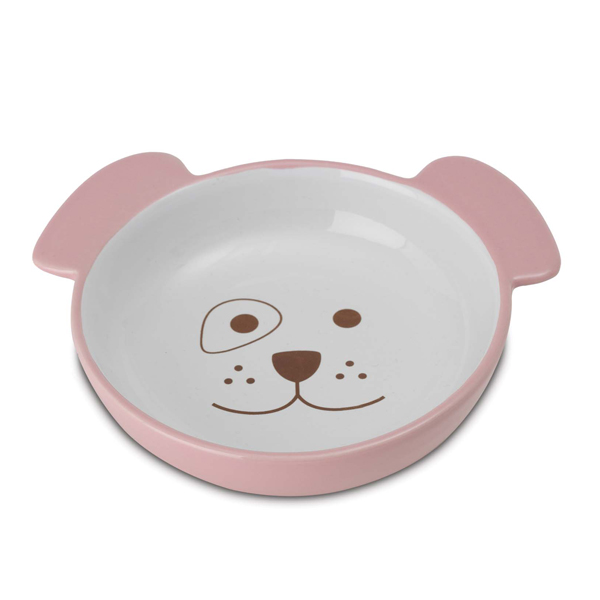 Here Doggy Pink Dog Bowl Baxterboo