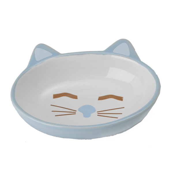 Here Kitty Blue Cat Bowl