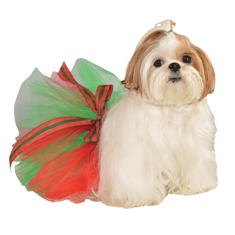 Holiday Dog Tutu  - Green and Red