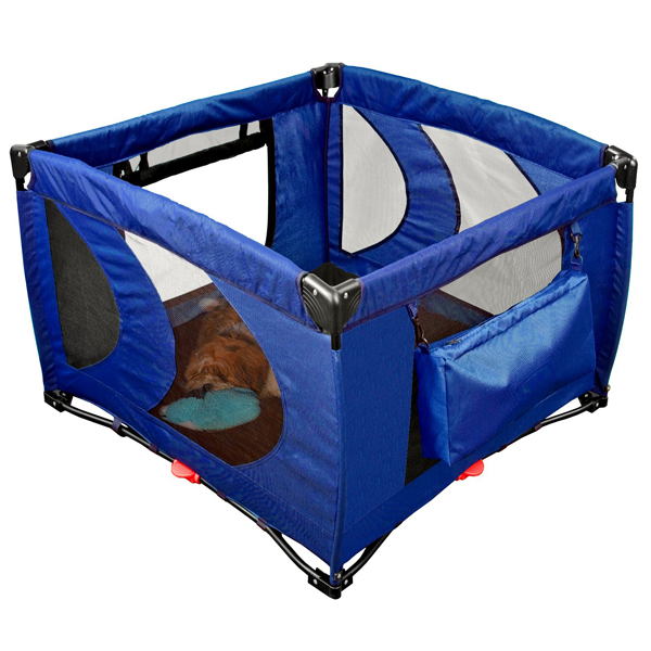 Home N Go Square Pet Pen - Cobalt Blue