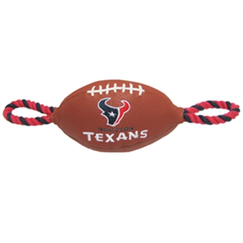 Houston Texans Pebble Grain Football Dog Toy