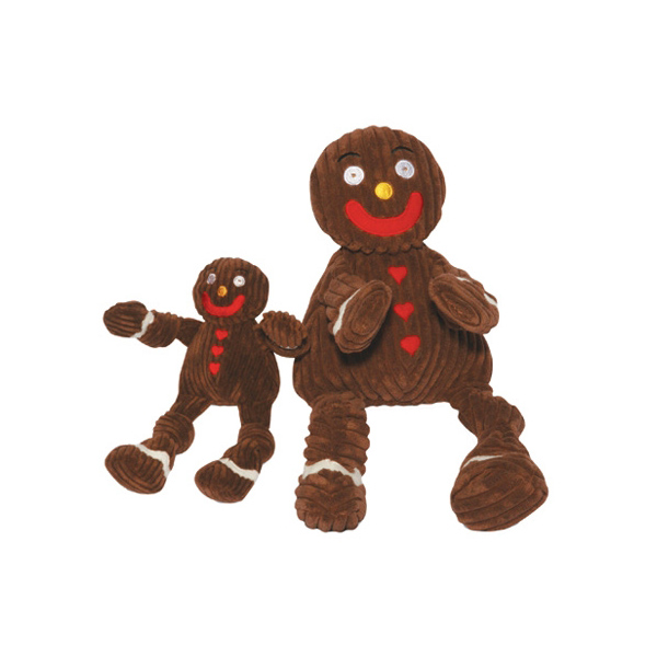 Hugglehounds Knottie Dog Toy - Gingy the Gingerbread Man