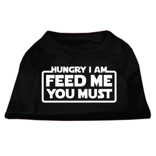 Hungry I am Dog T-Shirt - Black