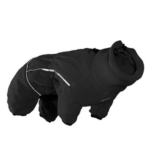 Hurtta Micro Fleece Dog Jumpsuit - Black