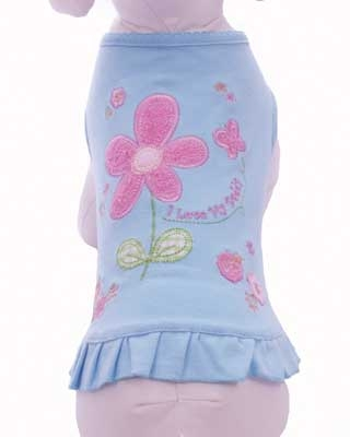 I Love My Dad Embroidered Dress - Blue