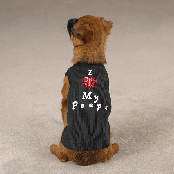 I Love My Peeps Dog Tank Top