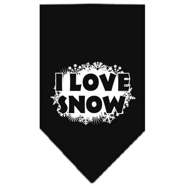 I Love Snow Dog Bandana - Black