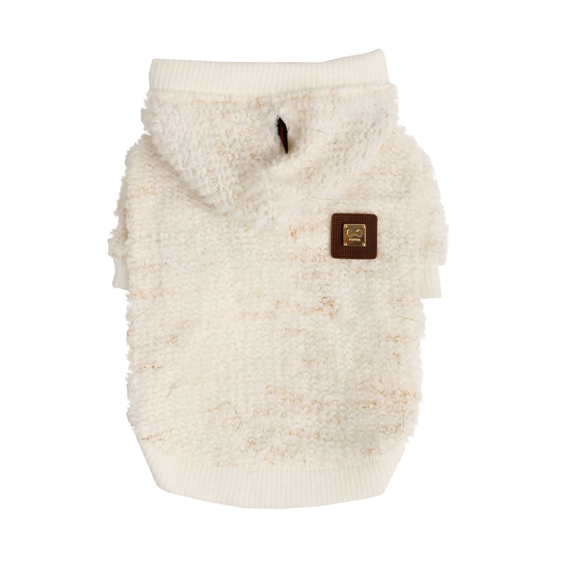 Incubus Hooded Dog Sweater by Puppia - Ivory