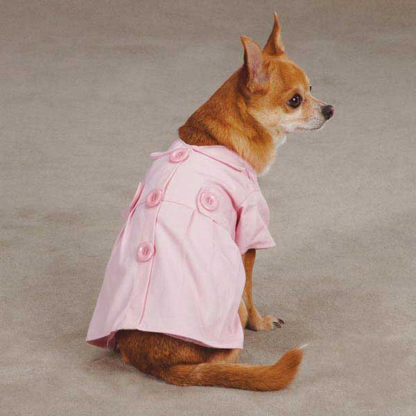 Jacqueline Dog Trench Coat - Pink