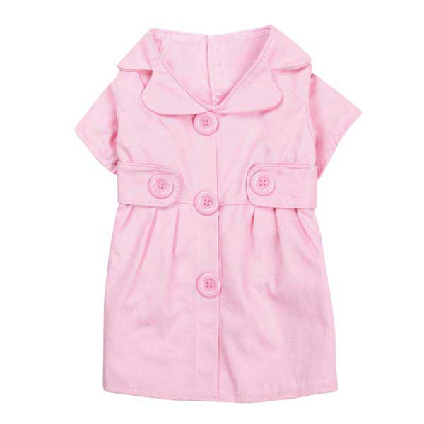 Jacqueline Dog Trench Coat - Pink