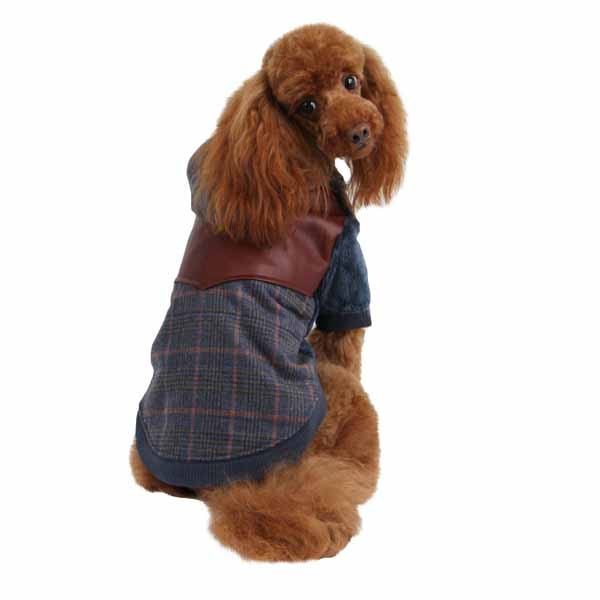 Java Hoodie Dog Jacket by Puppia - Blue
