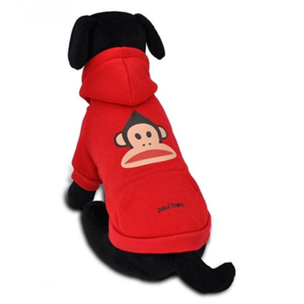Julius Faux Hawk Hooded Dog Sweatshirt - Red