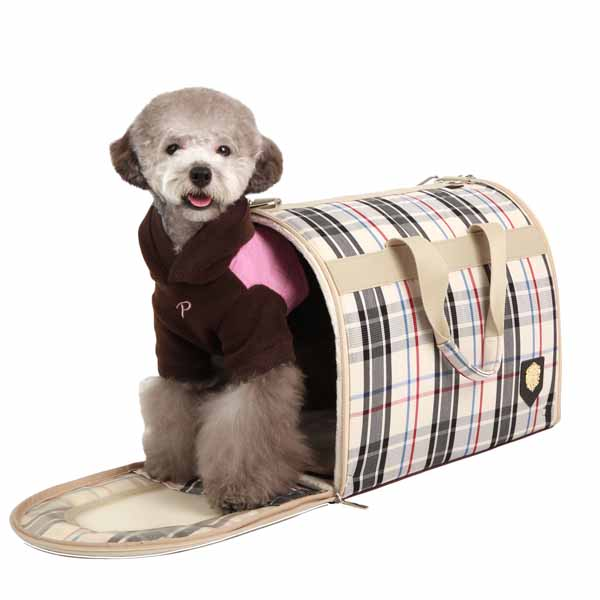 Junior Cage Dog Carrier by Puppia - Beige