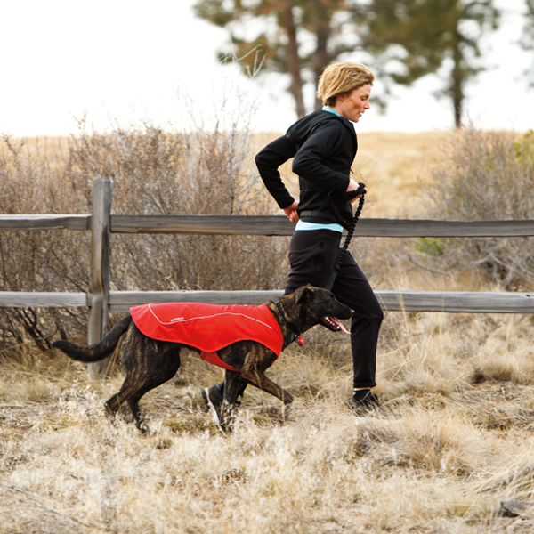 K-9 Overcoat Utility Dog Jacket by RuffWear - Red Currant