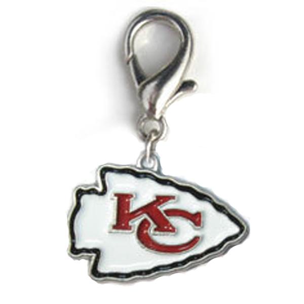 Kansas City Chiefs Logo Dog Collar Charm
