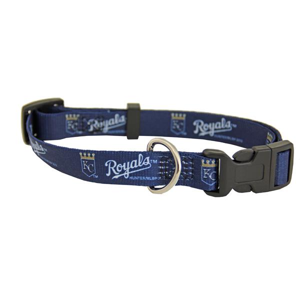 Kansas City Royals Baseball Printed Dog Collar - Navy