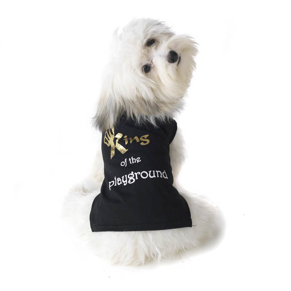 King of the Playground Dog T-Shirt - Black