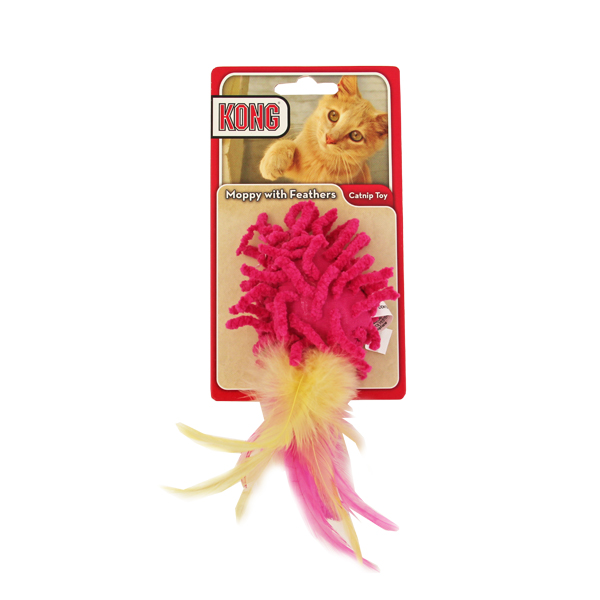 Kong Moppy with Feathers Catnip Toy