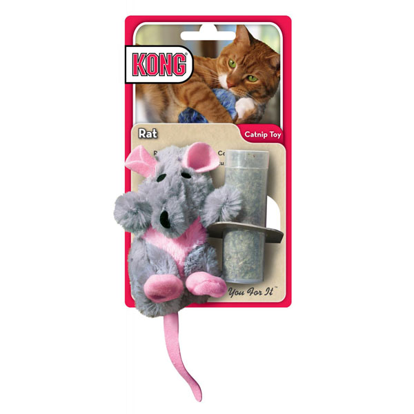 Kong Refillable Catnip Toy - Rat