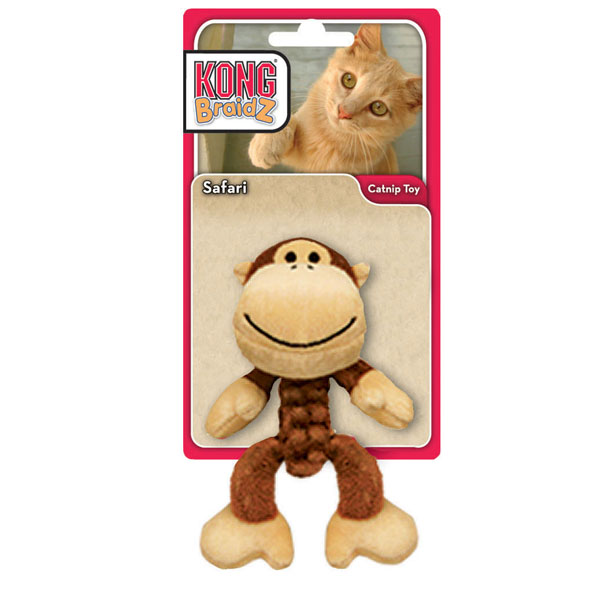 Kong Safari BraidZ Cat Toy - Monkey