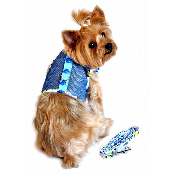 Lady Bug Cool Mesh Dog Harness by Doggie Design - Blue