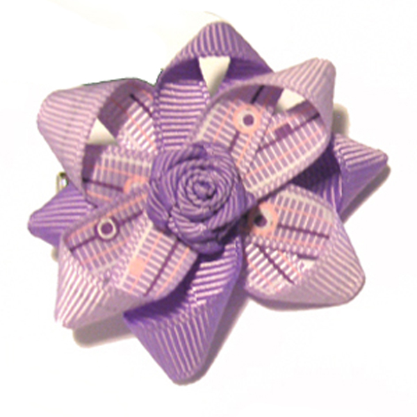 Lavender Times Dog Bow