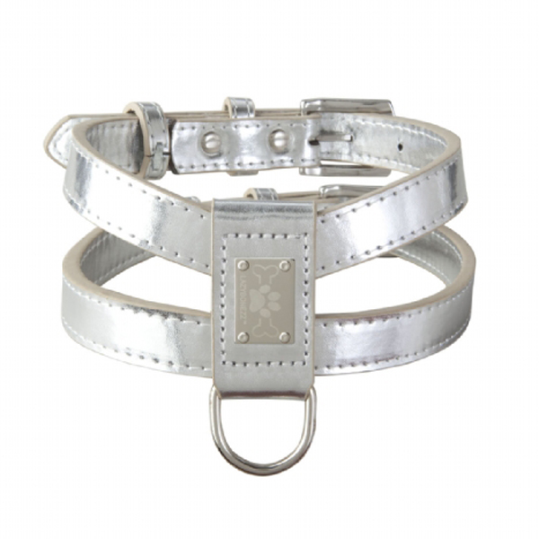 Lazybonezz Classic Dog Harness - Silver