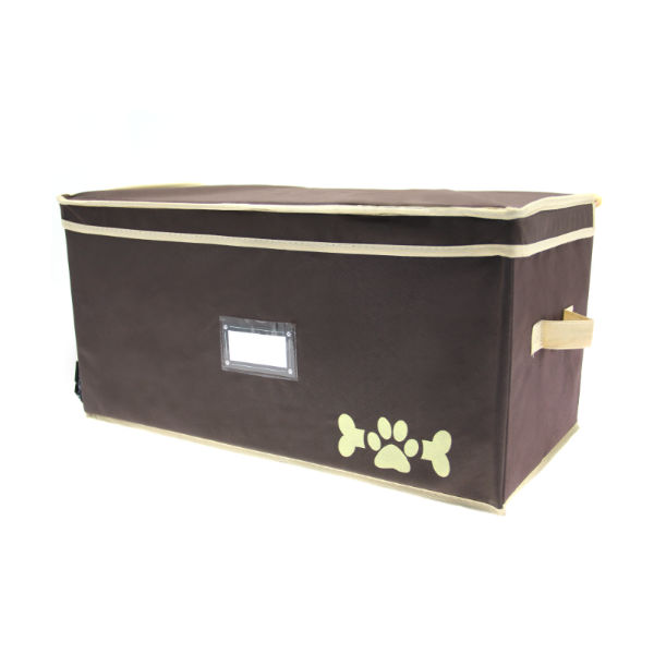 Lazybonezz Dog Toy Box - Brown